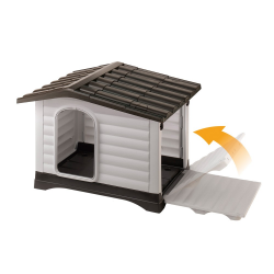 Ferplast Dogvilla 90 Πλαστικό Σπίτι Σκύλου 88x72x65cm