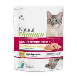Natural Trainer Sterilized Λευκά κρέατα 1,5kg - Ξηρά τροφή γάτας