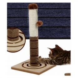Oνυχοδρομιο γάτας με αιωρούμενο μπαλάκι 29,5x29,5x56cm