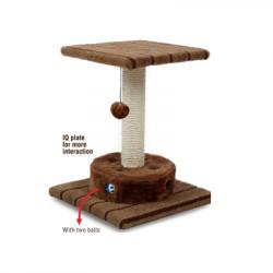 Oνυχοδρομιο γάτας με παιχνίδι 36x36x42cm
