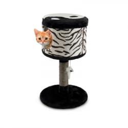 Ονυχοδρόμιο γάτας κάθισμα με αιωρούμενο παιχνίδι 36,5x36,5x63cm