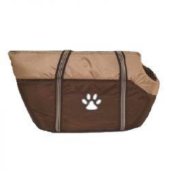 Τσάντα Μεταφοράς Cotton Καφέ/Μπεζ 45x29x28cm