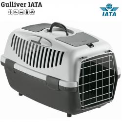 Κλουβί μεταφοράς GULLIVER 2 IATA 55x36x35cm Γκρι (Bάρους 6-10kg)