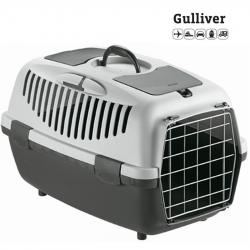 Κλουβί μεταφοράς GULLIVER 1 48x32x31cm Γκρι(Bάρoυς 5-6 kg)