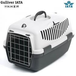 Κλουβί μεταφοράς GULLIVER 1 IATA 48x32x31cm Γκρι(Bάρoυς 5-6 kg)
