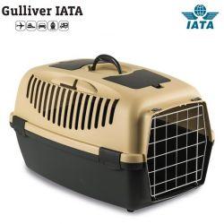 Κλουβί μεταφοράς GULLIVER 3 IATA 61x40x38cm (Bάρους 10-12kg)Μπέζ