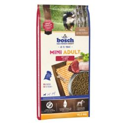 Bosch Mini Adult Lamb & rice 15kg + Δώρο Λιχουδιά