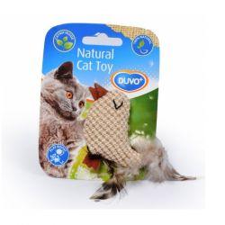 Παιχνίδι γάτας πουλί με φτερά φυσικό