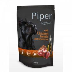 Piper φακελάκι με καρδιές κοτόπουλου και καστανό ρύζι 500gr.