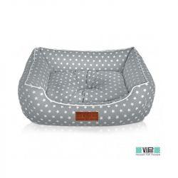 Κρεβάτι φωλιά Cozy γκρι με αστεράκια S 58x46cm