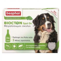 Beaphar Biocton Spot On - Φυτικές Αμπούλες (+30Kg)