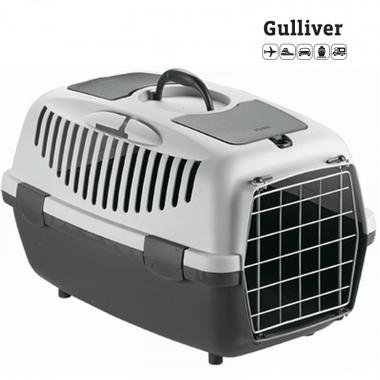 Κλουβί μεταφοράς GULLIVER 3 61x40x38cm Γκρι(Bάρους 10-12kg)