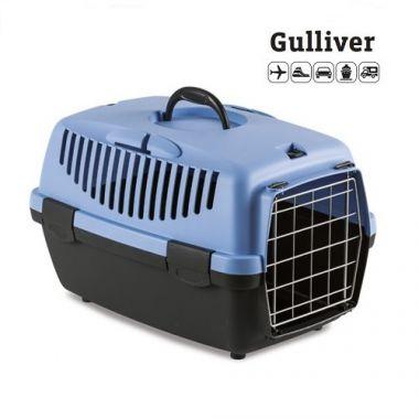 Κλουβί μεταφοράς GULLIVER 1 48x32x31cm (Bάρους 5-6 kg) Μπλε