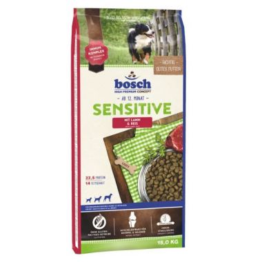 Bosch Sensitive Lamb & Rice 15kg +Δώρο Λιχουδιά